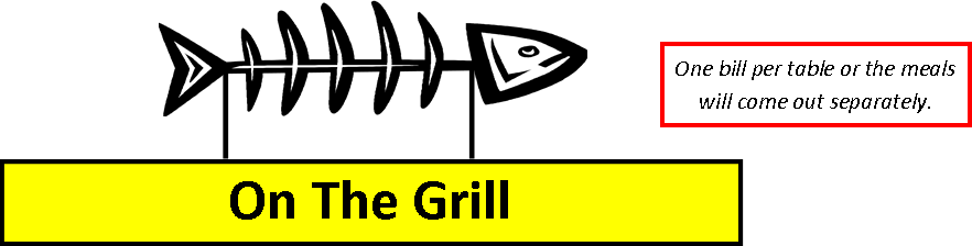 On the Grill Menu